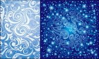 Pretty vecteur d��cor bleu