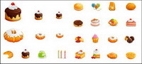 Western-style gâteaux Vector Icons