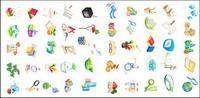 Ballons, Blöcke, Geschenke, Bleistifte, St��hle, Uhren, Schl��ssel, Zauberstab, Lotus-, Saatgut-Symbol