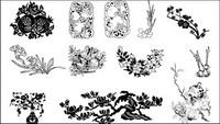 De ciruelas, granadas, vector de Magnolia
