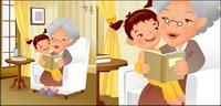 iClickart Cartoon vecteur famille illustrateur mat��riel -11