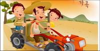 iClickart Cartoon vecteur famille illustrateur mat��riel -4