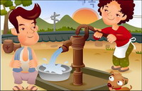 iClickart Cartoon vecteur famille illustrateur mat��riel-3