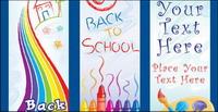 L¨¢pices de colores, acuarelas, pinceles, pintura, vector de arte para niños