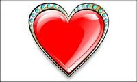 Diamond herzförmigen Valentinstag Vector Material