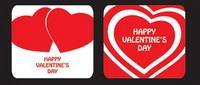 El coraz��n de San Valent��n en forma de tarjeta de felicitaci��n plantilla de vectores