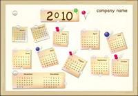 2010 Año Nuevo Calendario de Vector