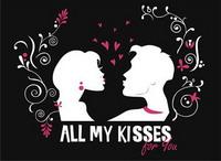Kiss, la Saint Valentin Vector