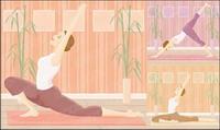 Hombre ejercicio de yoga Vector