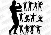 Fitness Person Action silhouette vecteur