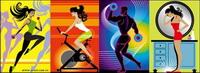 Fitness Series mat��riel vecteur illustrateur