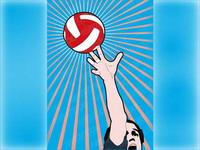 mat��riel vecteur de volley-ball