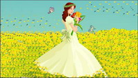 La novia, Butterfly material Vector