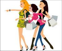 Shopping vektor weiblich