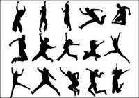 Les gens mat��riel vecteur silhouettes saut