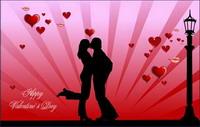 Valentinstag k��ssenden Vektor-Material
