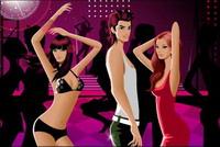 Bailando hombres y mujeres de moda vector material relacionado