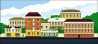 Vector Town cartoon paysages