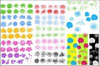 Ink Mustern, Blumen, Vektor
