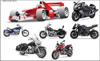 Motorcycle racing car vecteur mat��riel