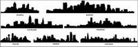 silueta de la ciudad de vectores materiales -2