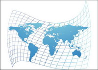 Verzerrte Karte der Welt Vektor