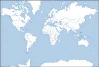 Monde silhouette carte vectorielle