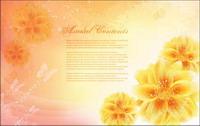 la fantas¨ªa de flores vectoriales material -14