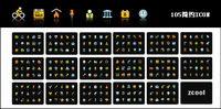 105 color vecteur mat��riel simplicit�� icône