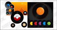 Vector disque vinyle de couleur