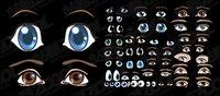 Accueille une belle caricature des yeux vecteur mat��riel