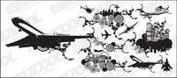 Villes de roulement et la combinaison des ��l��ments du vecteur mat��riel