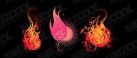 Flame mod��le vectoriel mod��lisation mat��riel