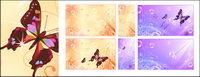 Butterfly Dream fleur bulle vecteur mat��riel de base