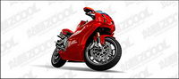 Ai motocicleta color rojo vivo el material de dibujo vectorial