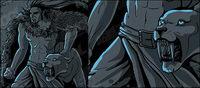 Comic-Stil Leopard Vektor-Zeichen-und Material