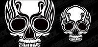 Skulls totem vecteur mat��riel