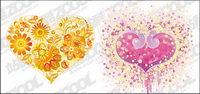 Coeur en forme de fleur vecteur mat��riel