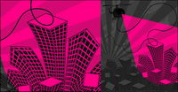 La tendance des illustrations vectorielles urbaines mat��riel-2