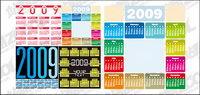 4 del año civil 2009 material de vectores