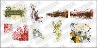 8, unsystematische Art Muster Vektor-Material