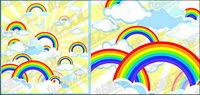 Lovely illustrations vectorielles mat��riel arc-en-ciel