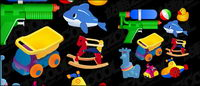 Los juguetes de los niños material de vectores