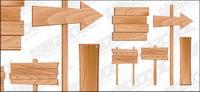 Material de madera signos vectores