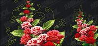 Rose dekorative Muster Vektor Material