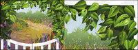 Vector material las hojas de vid