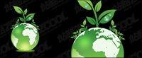 Terre des plantes vertes vecteur