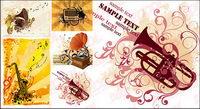Gramophone, trompette musique, vecteur de mat��riel