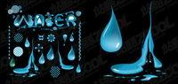 Vektor-Material Wasser