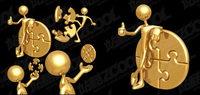 3D Gold villain vecteur